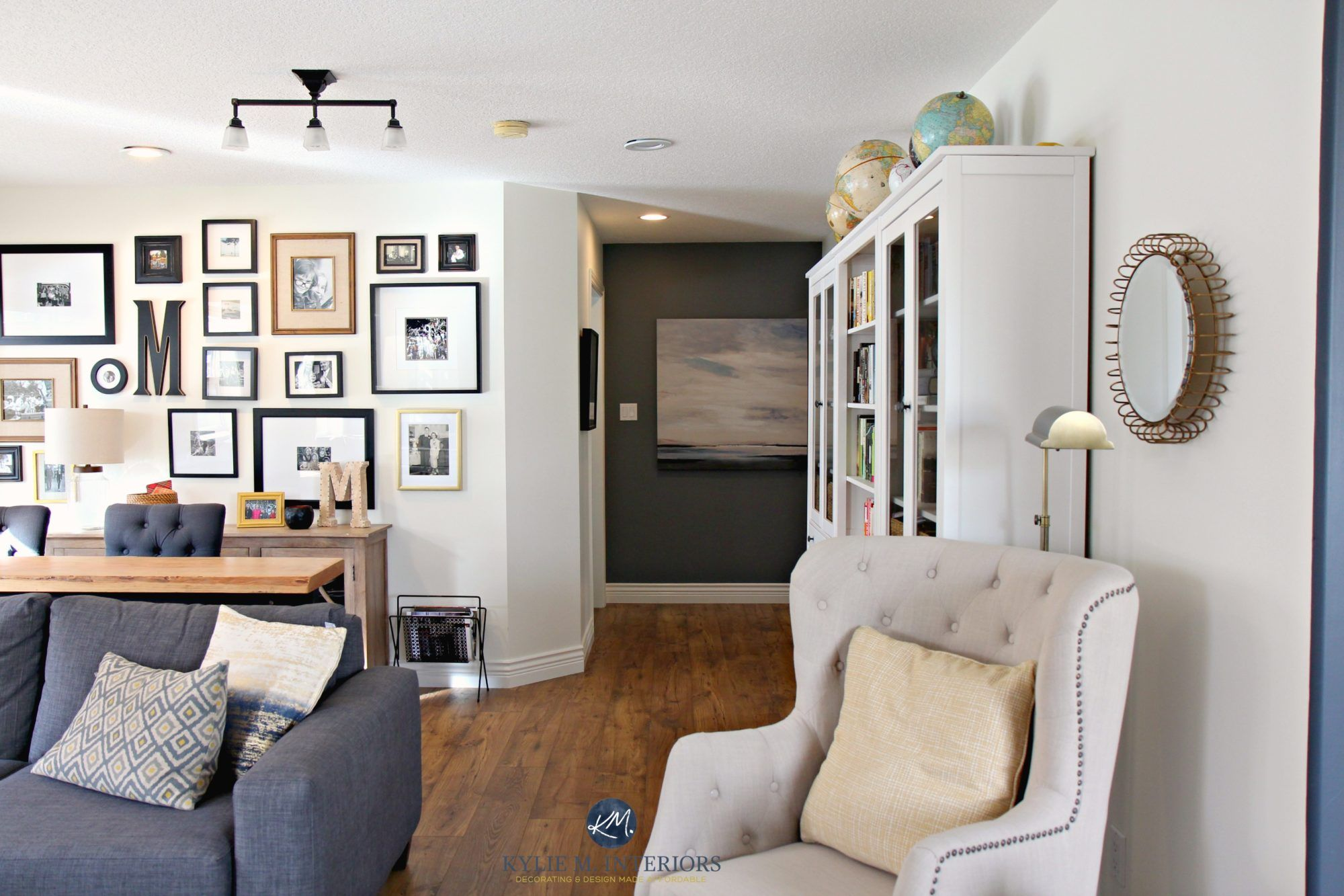 Colour Review Sherwin Williams Creamy Sw 7012 Grey Feature Wall White Rooms Cream Living Room Paint