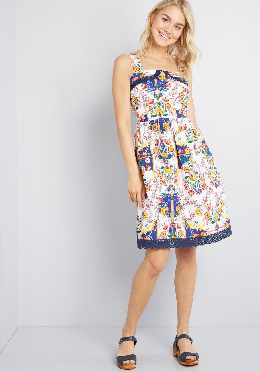 d5a9f9fd5d8 Intricate Whims Floral Sundress Your desires for a stunning look are as  robust as the details
