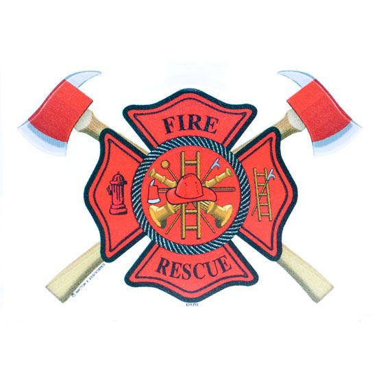 Gallery For Fire Maltese Cross With Axes Fire Fighter Tattoos Firefighter Decals Fire Axe