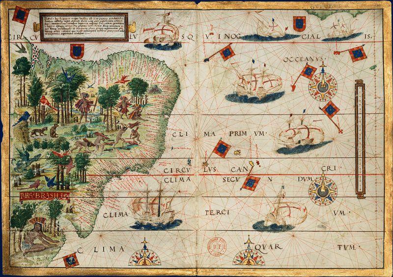 Carte Marine Bresil.Bnf Les Cartes Marines Brasil Atlas Miller 1519 Di