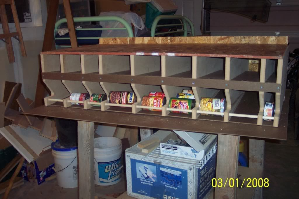 Rotating Food Storage Plans | Self Rotating Can Racks Photo CanRacks