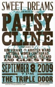 Patsy Cline Hall of Fame Poster Hatch Show Print