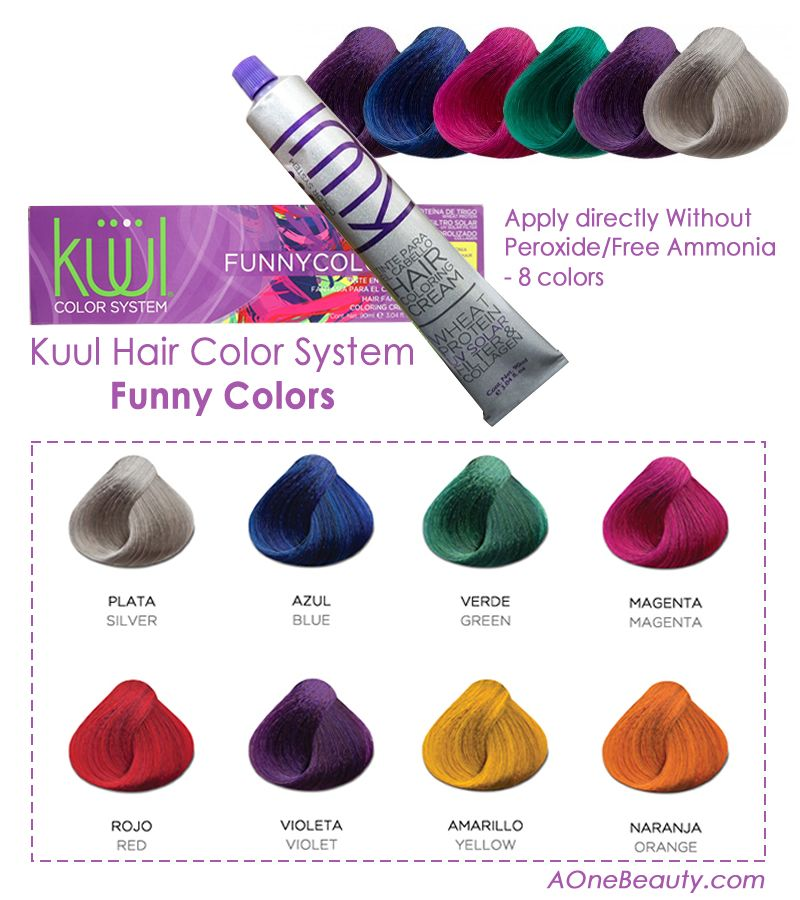 sale kuul hair color system funny colors apply directly without