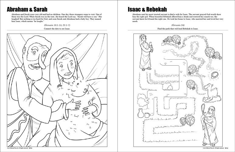 Sunday School Coloring Pages For 3 Year Olds. This Famous Bible Story Duos coloring and activity book tells the stories  of some s most well known twosomes rebekah isaac maze Google Search Sunday School 5 7 yr