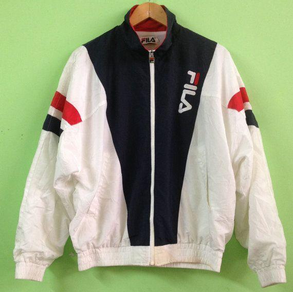 Vintage 90s Fila Sports Windbreaker Tennis Jacket L
