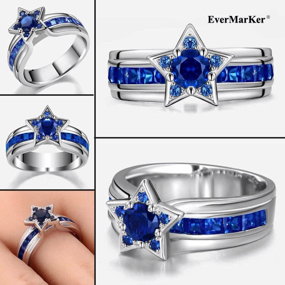 twisted opening silver sterling products lettering rings evermarker wedding couple