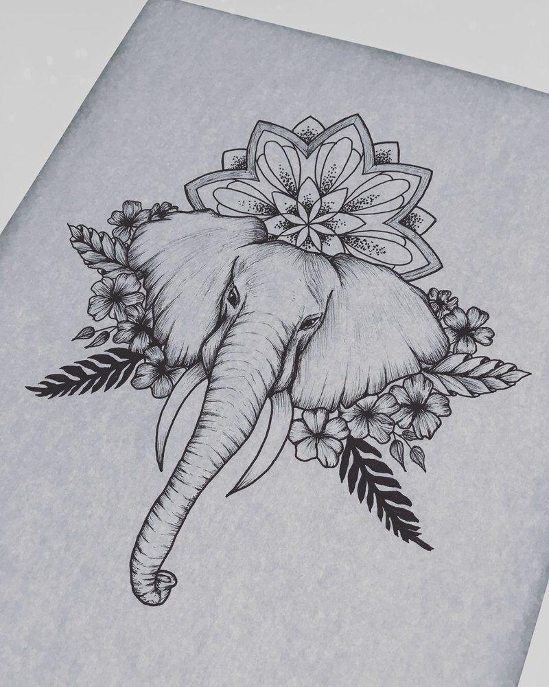 Elephant by DominikaStadnik deviantart com on @DeviantArt | Black