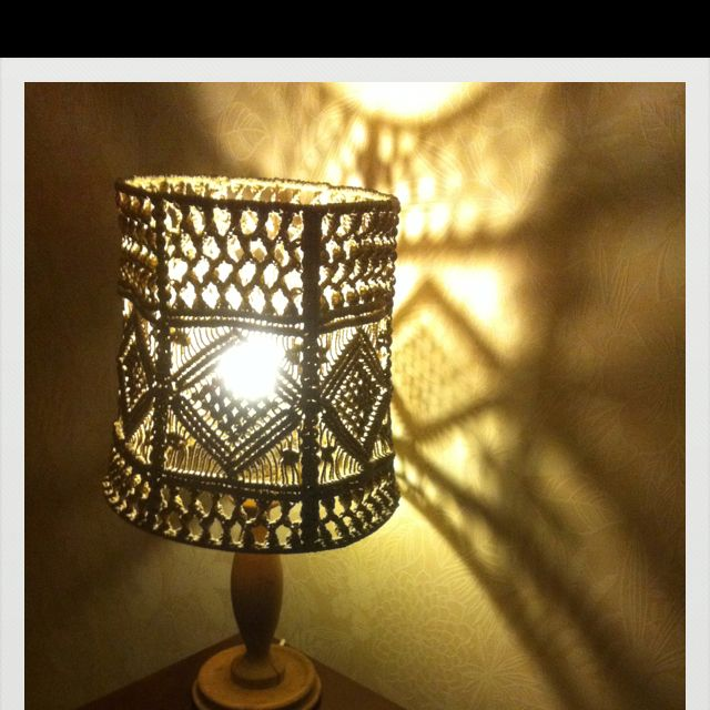 Macrame lamp shade   my vintage collectibles   Pinterest ...