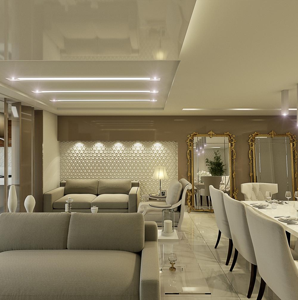 Decor Salteado Blog De Decora O E Arquitetura Apartamento Com  -> Cores Parede Sala Jantar