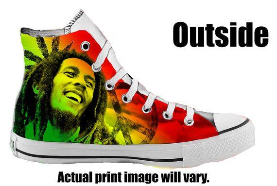 Converse Bob Marley | Custom Converse | Hand Painted