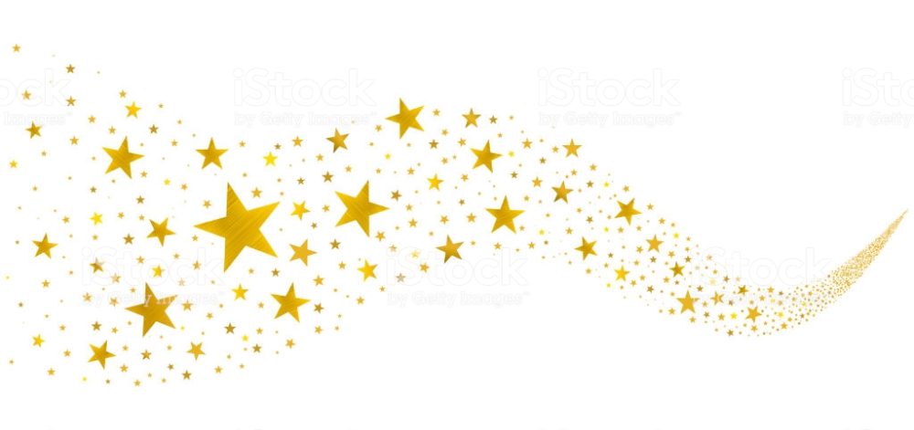 Gold Stars Fly In A Stream On A White Background Golden Star Gold Stars Free Vector Art