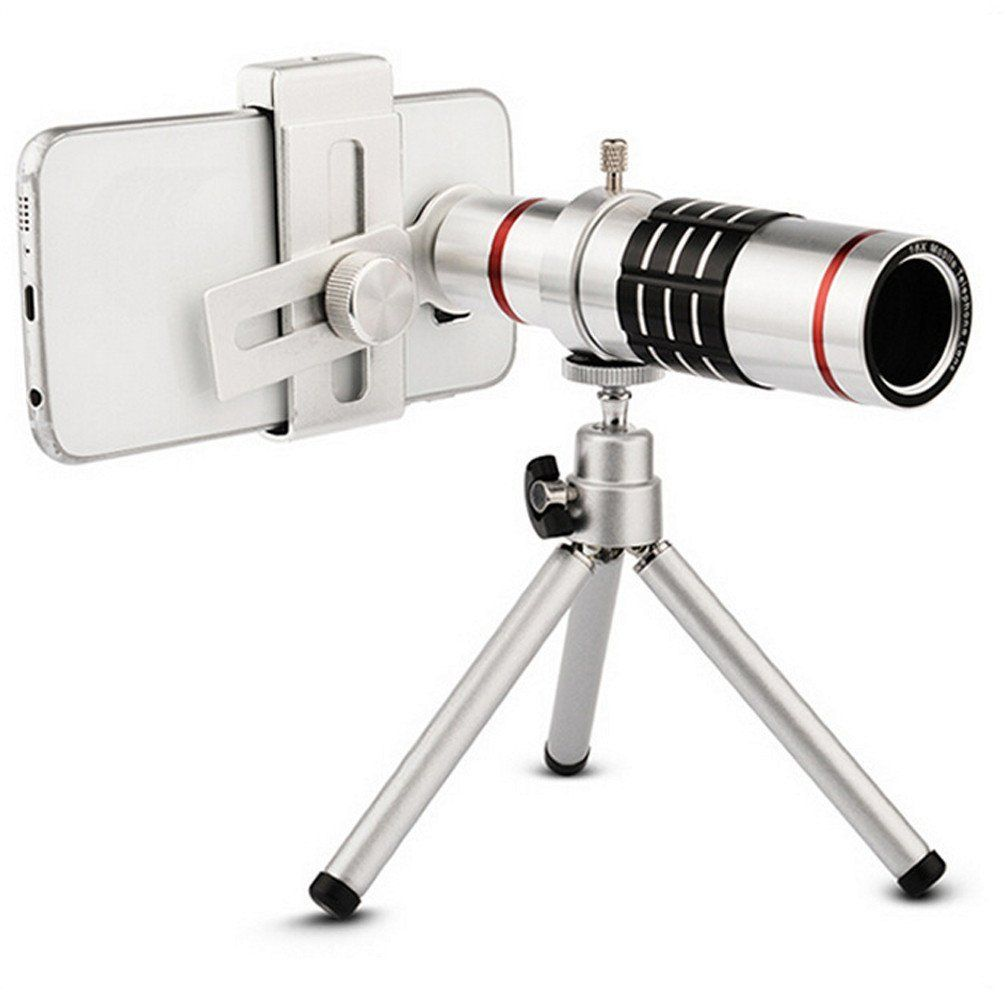 Universal Super 18x Zoom Mobile Phone Telescope Metal Clip Lens 8x Optical With Clamp Black Camera For Smart Devices Tripodsilver This New Hot Popular Creative