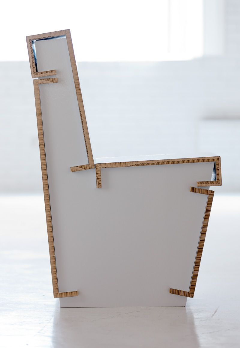 Comfortable cardboard chair designs - Cardboard Chair Comfortable And Durable In Three Colors