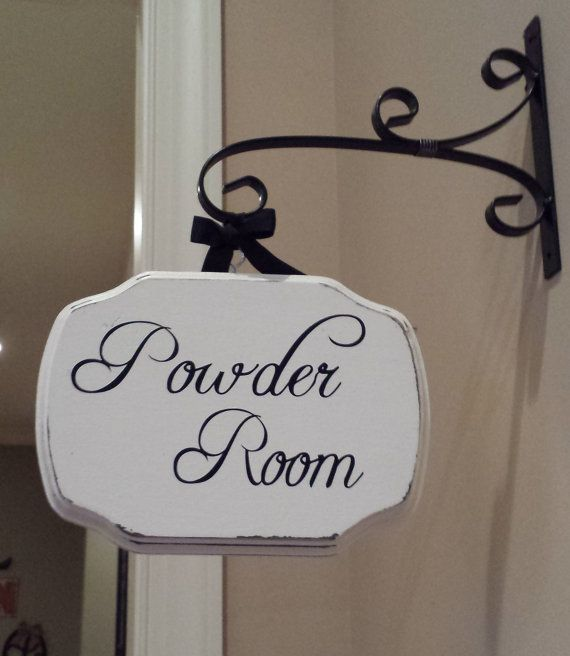 Elegant Powder Room/Laundry Room/Pantry/Guest Room Plaque With Or Without Bracket On