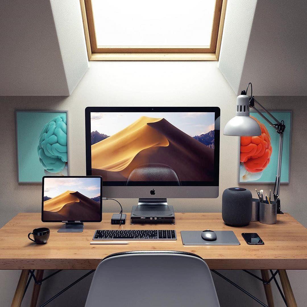 Epingle Sur Computer Desk Setup