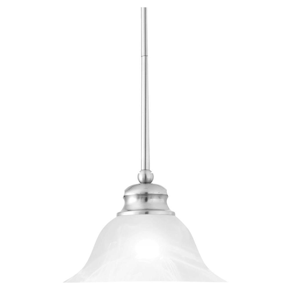 Thomas Lighting 1 Light Brushed Nickel Hanging Pendant Sl829678