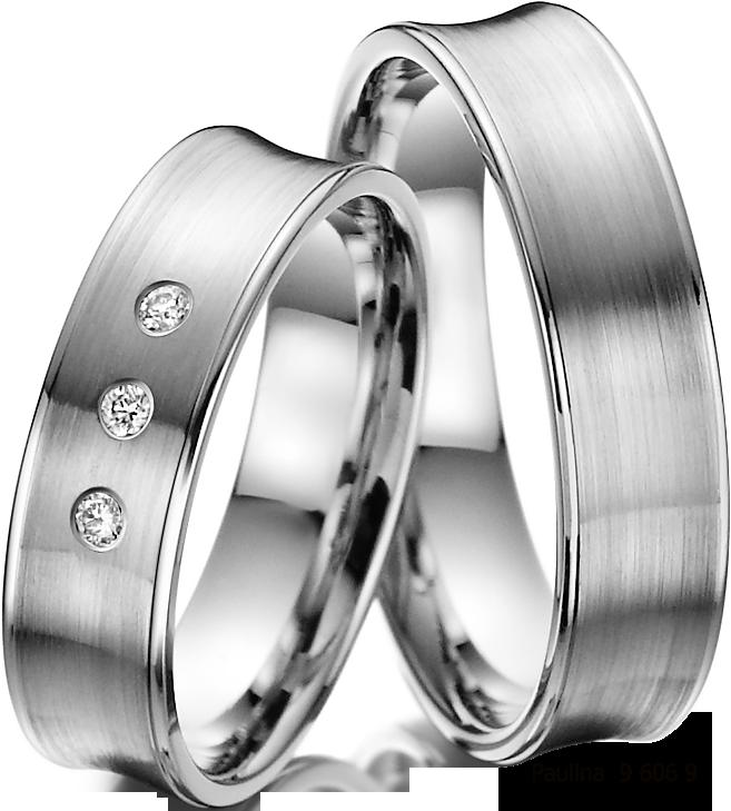Moderni Snubni Prsteny Z Bileho Zlata V Matnem Provedeni Damsky