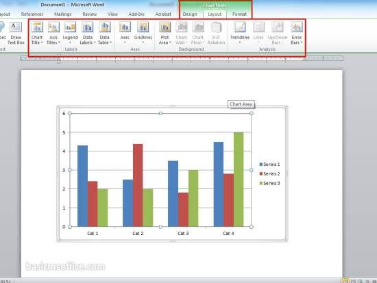 Settings Chart Tools In Graphics Word Document Basic MS Word - microsoft word diagram templates