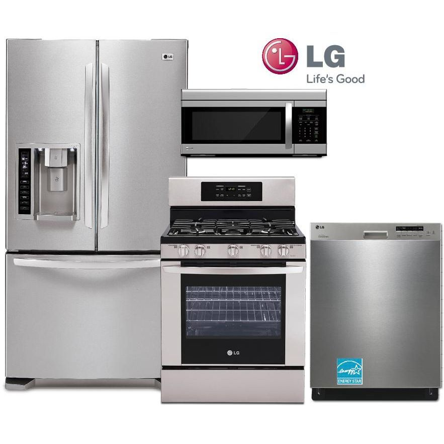 Lg 4 Piece Gas Kitchen Package Rcwilley Image1 800 Jpg 883 883 Lglimitlessdes Kitchen Appliance Packages Gas Kitchen Appliances Outdoor Kitchen Appliances