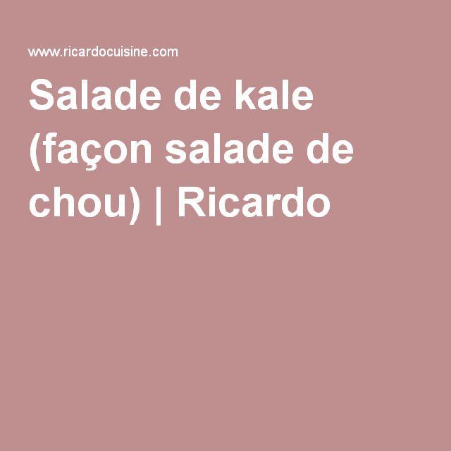 Salade de kale (façon salade de chou) | Ricardo
