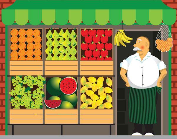 Resultado De Imagen Para Tienda De Abarrotes Caricatura