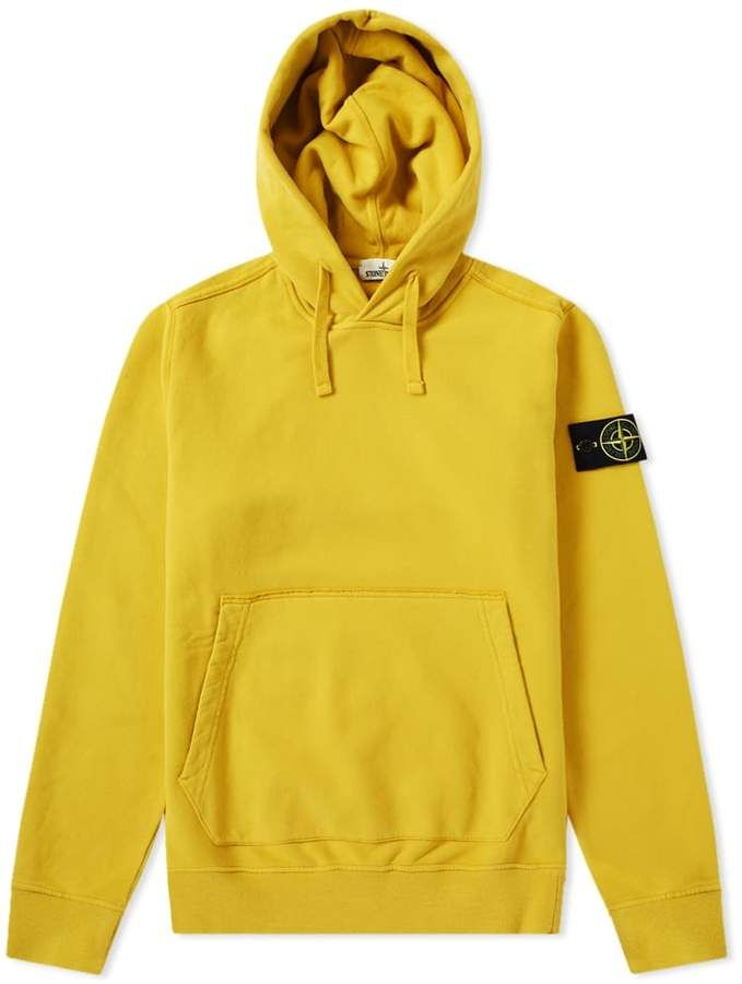 purchase cheap 5c6bc 9623f Stone Island Garment Dyed Popover Hoody | Yellow Streetwear ...