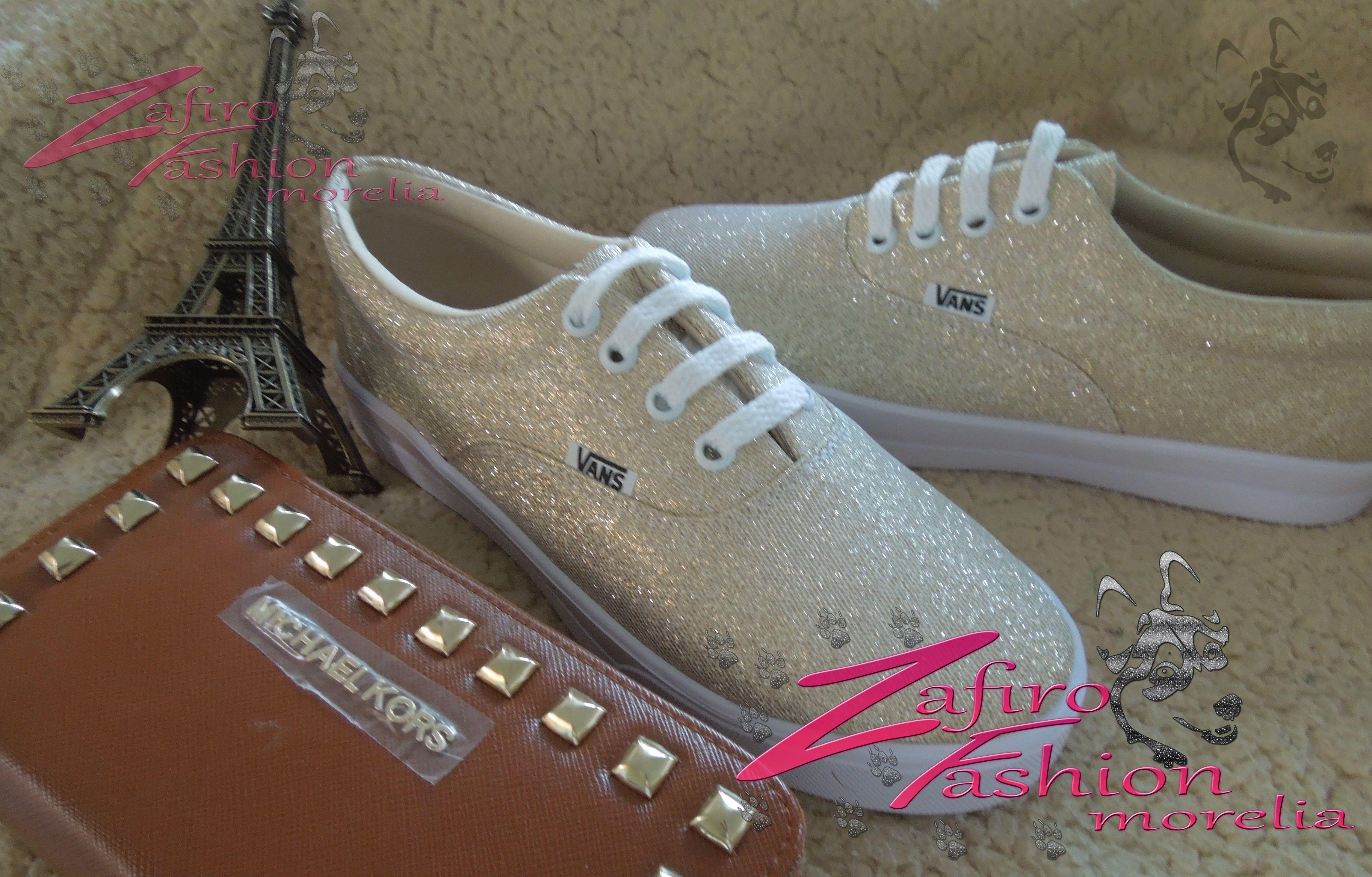 8daa614fe2e6 VANS con gliter dorado encuentralo en facebook en Zafiro Fashion Morelia o  en instagram en
