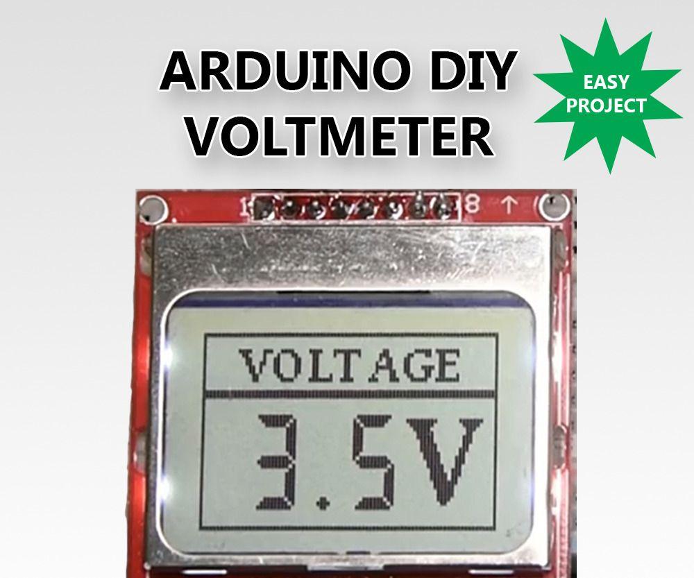 DIY Voltmeter With Arduino and a Nokia 5110 Display | adreno