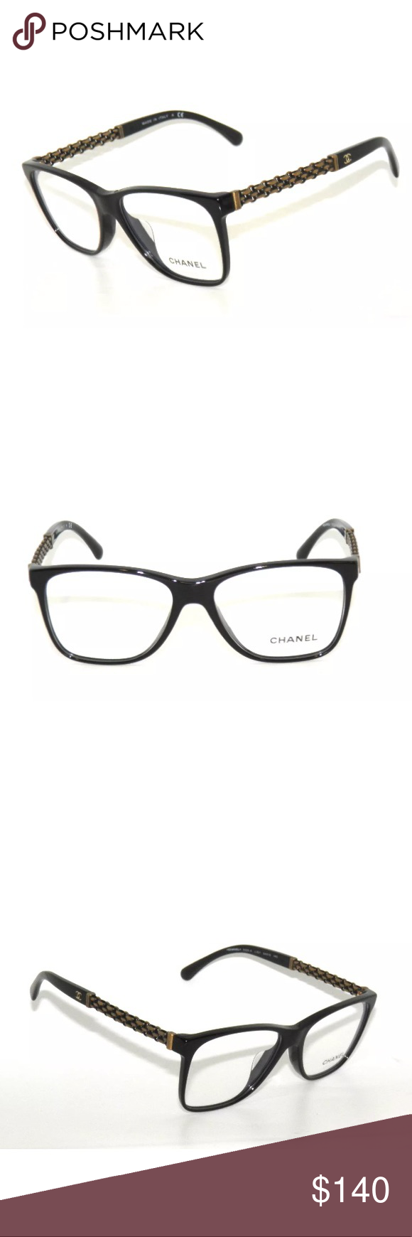 3e3a0b95f554 🎈CHANEL 3320A BLACK AND CHAIN EYEGLASSES 54mm BRAND NEW