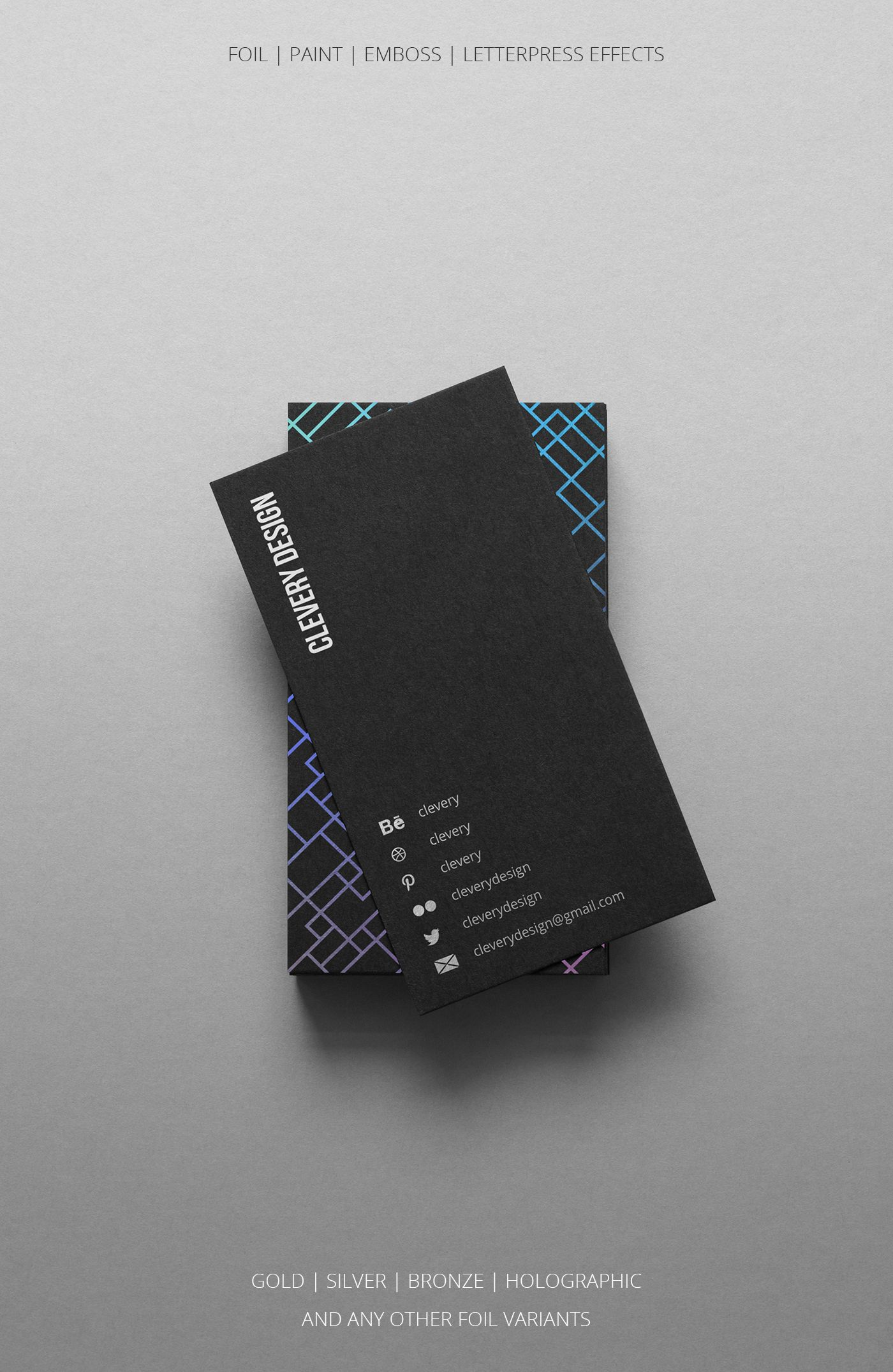 Photorealistic Business Cards Mockup Black Edition On Behance