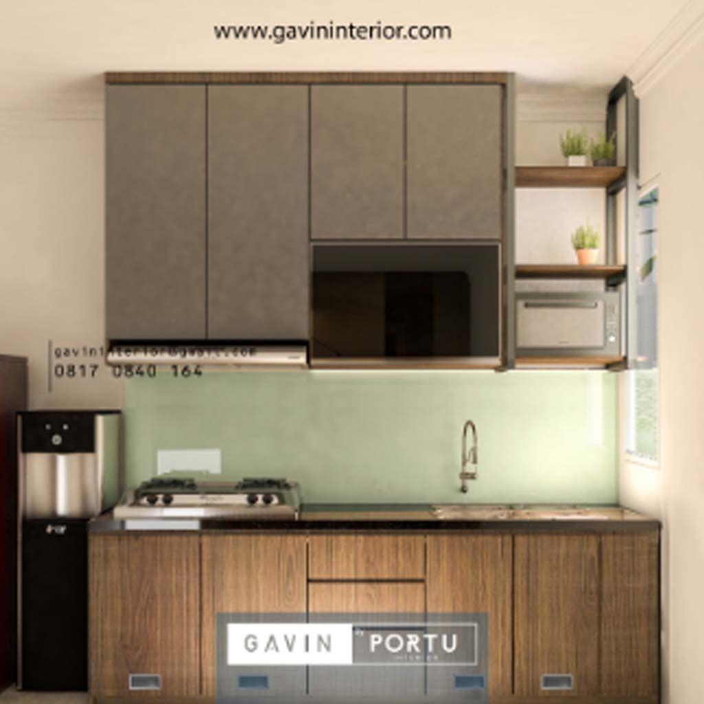 Desain Kitchen Set Minimalis Modern Warna Coklat Kombinasi Putih Modern Minimalis Desain