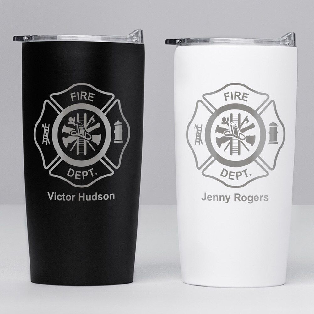 Photo of Personalized Firefighter Stainless Steel Tumbler