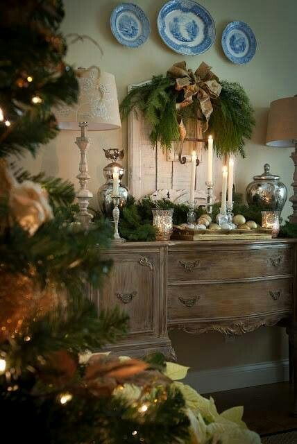 French Country Christmas Via French Provencal Touch With