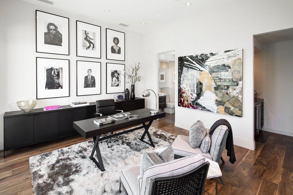 decoración de la oficina en blanco y negro fotos enmarcadas estilo ...