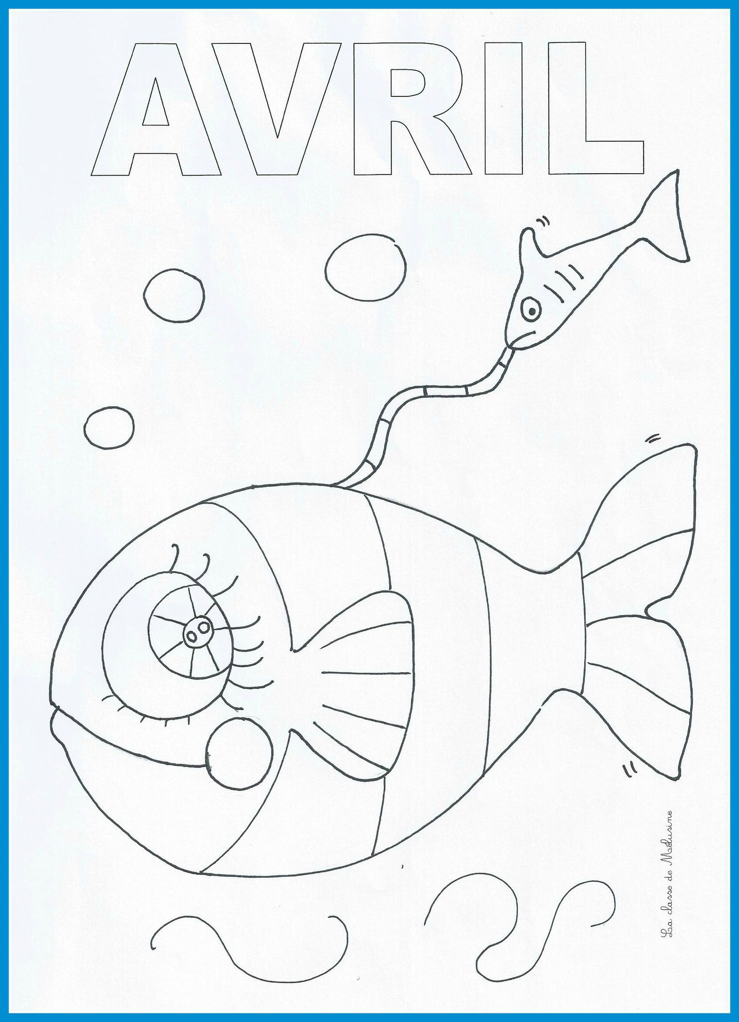 Coloriage mois avril maternelle - Coloriage poisson maternelle ...