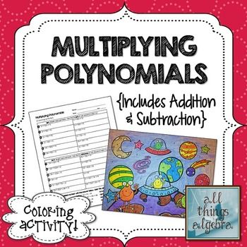 Multiplying Polynomials Coloring Activity Aliens Answer Key