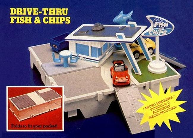 1987 Micro Machines Travel City Drive Thru Fish Chips Micro Machines Nostalgic Toys Vintage Toys