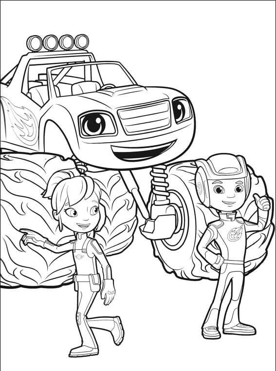Blaze Gabby Aj Blaze And The Monster Machines Coloring Pages Monster Truck Coloring Pages Cute Coloring Pages Coloring Pages