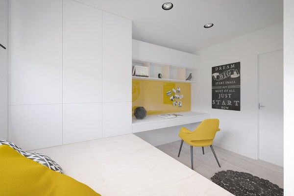 Cool 50 square meter space saving apartment layout for young family