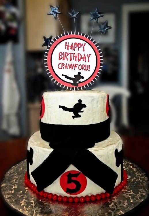 Pin by Dakota Decor on Birthday Cake Ideas Pinterest Karate
