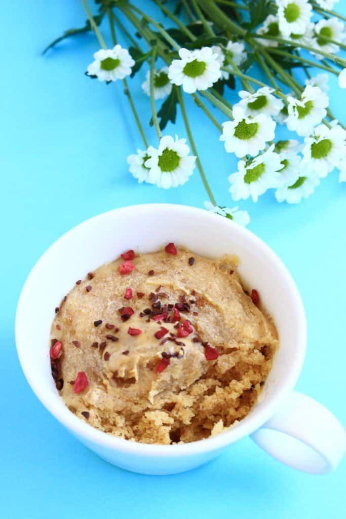Vegan Peanut Butter Microwave Mug Cake 3-Ingredients | Mug ...