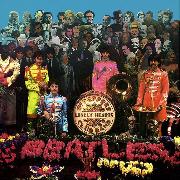 Sgt Pepper Cover Shoot Retronaut Sgt Pepper Cover Sgt Pepper Sgt Peppers Lonely Hearts Club Band