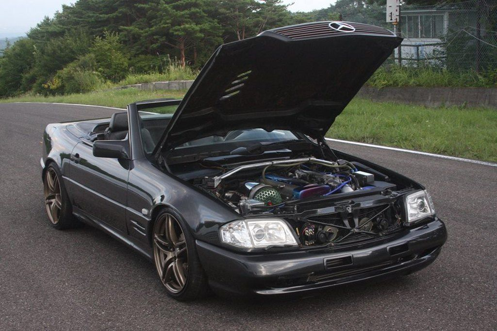 mercedes sl with a toyota supra engine cool cars mercedes benz rh pinterest co uk