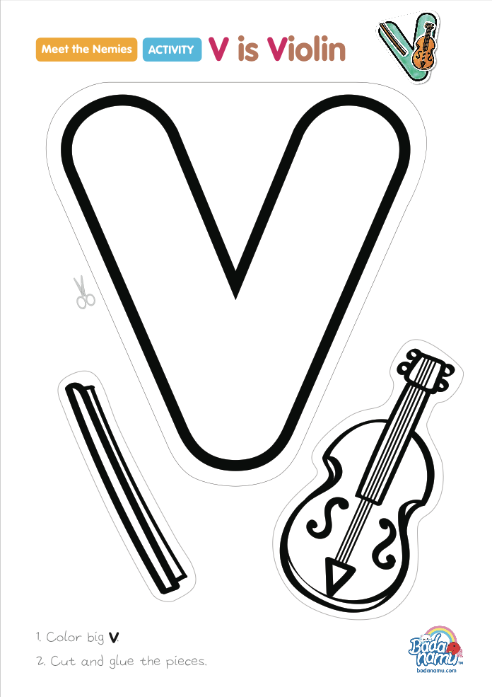 V Is For Violin 'V is Violin' craft! A...