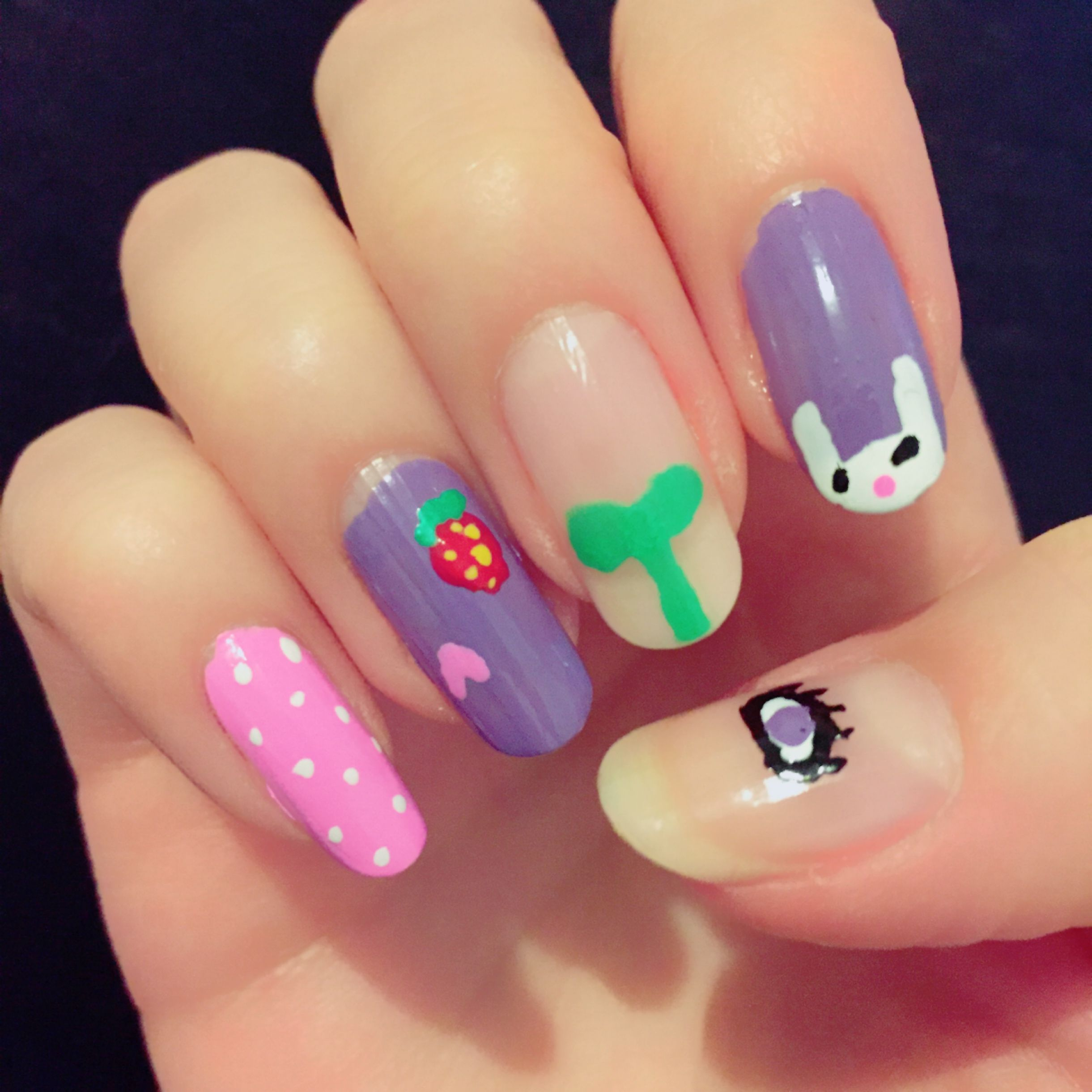 Nail art inspired by Ultra Violet, a Yume Nikki fangame | My nails ...