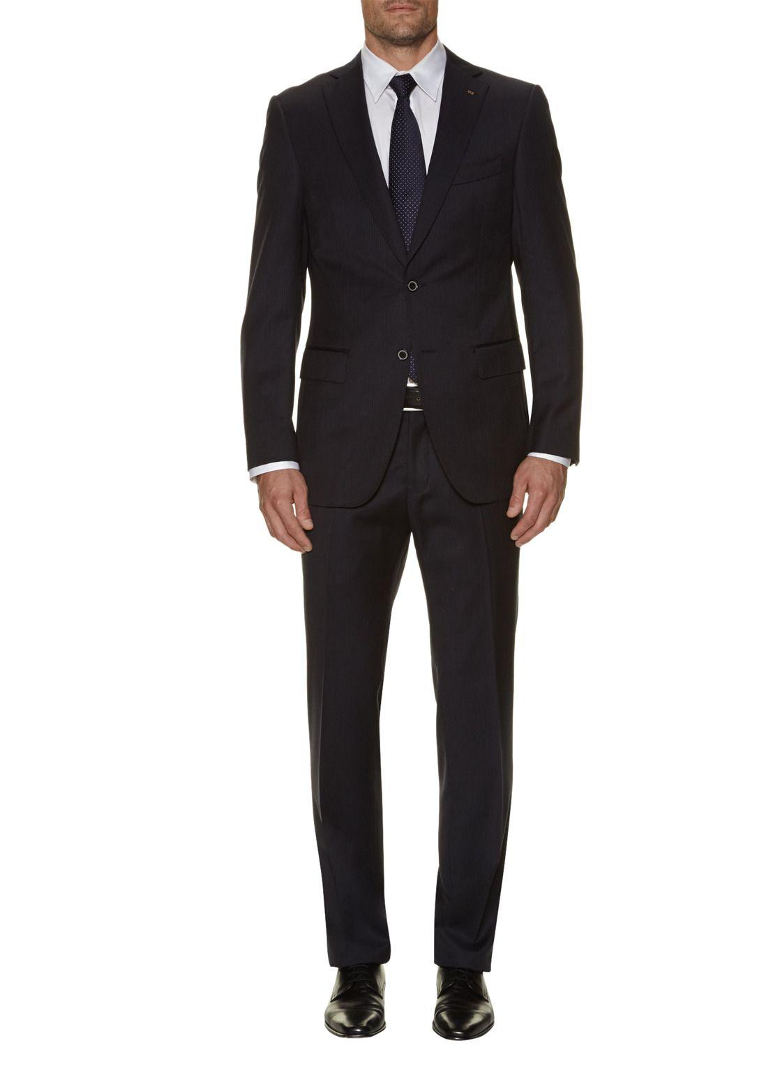 Donkerblauw pak voor heren! Let wel: kostuum is kostuum dus aub het colbert niet optioneel maar VERPLICHT stellen (uniformiteit).