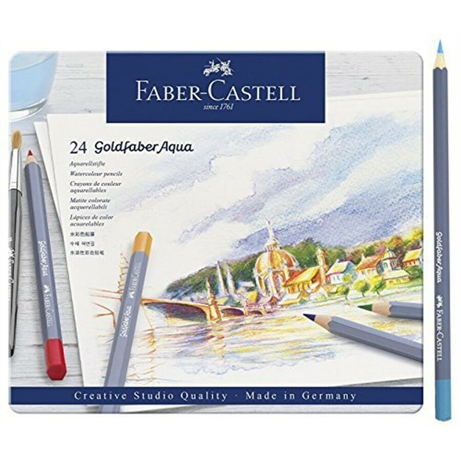 Goldfaber Aqua Watercolour Pencil In Metal Tin Pack Of 24 24