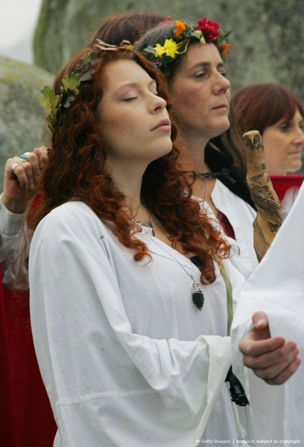 Druids Perform A Pagan Samhain Blessing Ceremony Stonehenge Pagan Festivals Celtic Paganism Druid