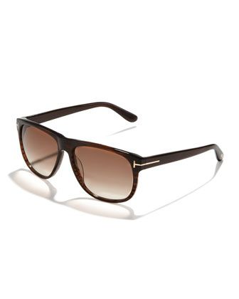 d68c3fc1c Olivier Plastic Sunglasses, Brown by Tom Ford at Neiman Marcus ...