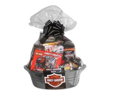 if your guy loves to ride his harley this gift basket makes the
